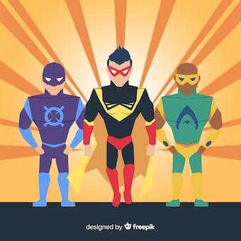 Männlicher superheldsatz
