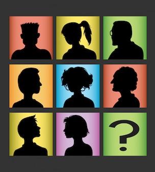 Männlicher und weiblicher avatar