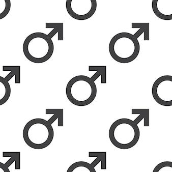 Männliches symbol, nahtloses vektormuster, editierbar kann für webseitenhintergründe verwendet werden, musterfüllungen