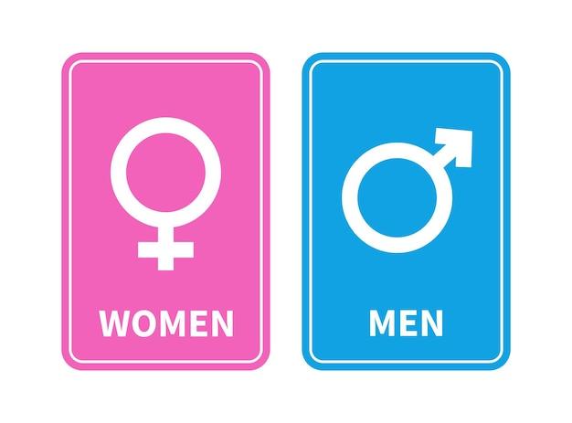 Männliches und weibliches geschlechtszeichen