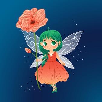 Märchenblumenfigur