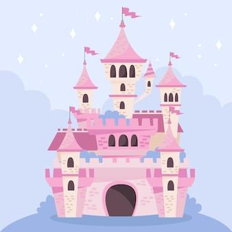 Märchenhafte magische burg