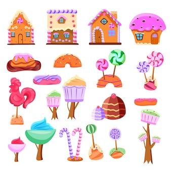Märchenhaftes candyland-set