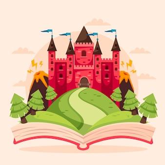 Märchenkonzept mit festung