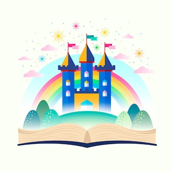 Märchenschloss im regenbogen