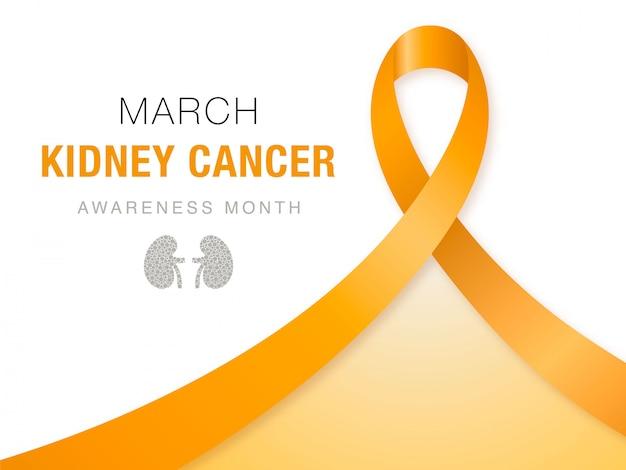 März - monat zur aufklärung über nierenkrebs.
