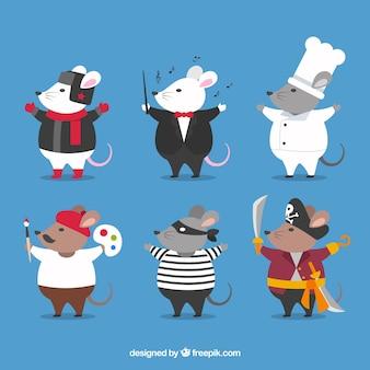 Mäuse züchten pack für verschiedene jobs