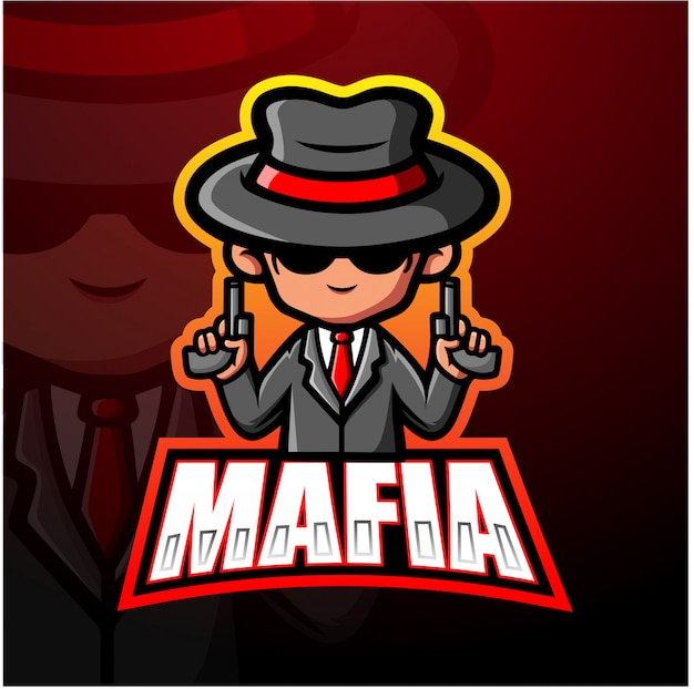 Mafia maskottchen esport illustration