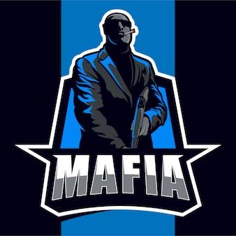 Mafia maskottchen esport logo