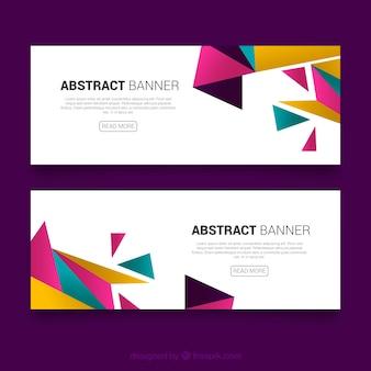 Magenta Dreieck Banner