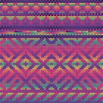 Magenta gradient colors nahtloses muster des weihnachtsstrickens