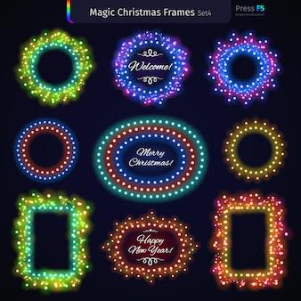 Magic christmas frames set