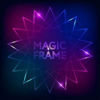 Magic frame hintergrund mit farbverlauf