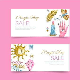 Magic shop banner vorlage