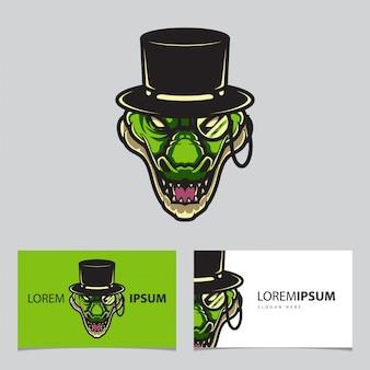 Magicians alligator logo logo