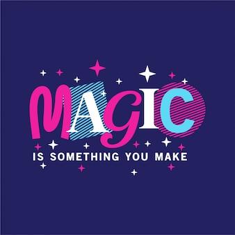Magie - typografie