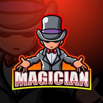 Magier maskottchen esport illustration