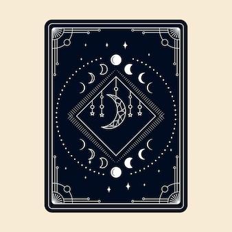 Magische tarotkarten esoterisch okkulter boho spiritueller leser hexerei magischer kristall und magisches symbol