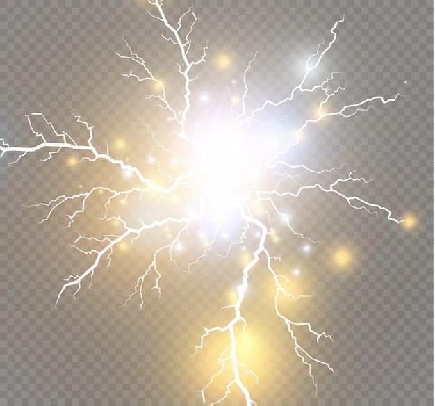 Magische und helle lichteffekte.