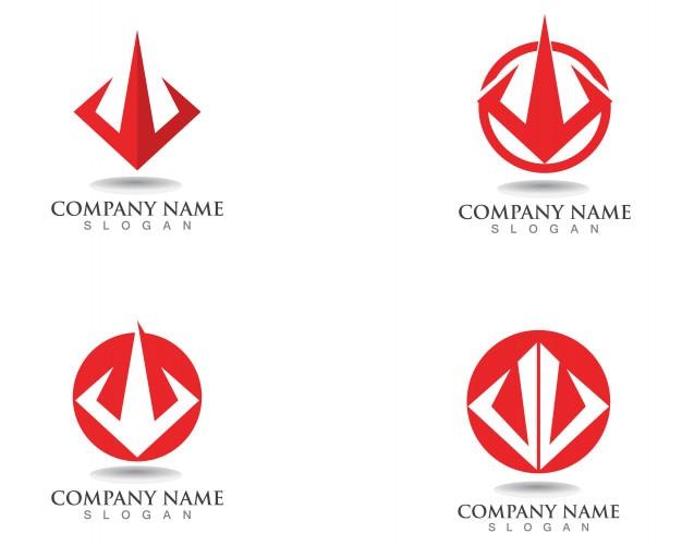 Magischer dreizack logo und symbole vorlage vektor