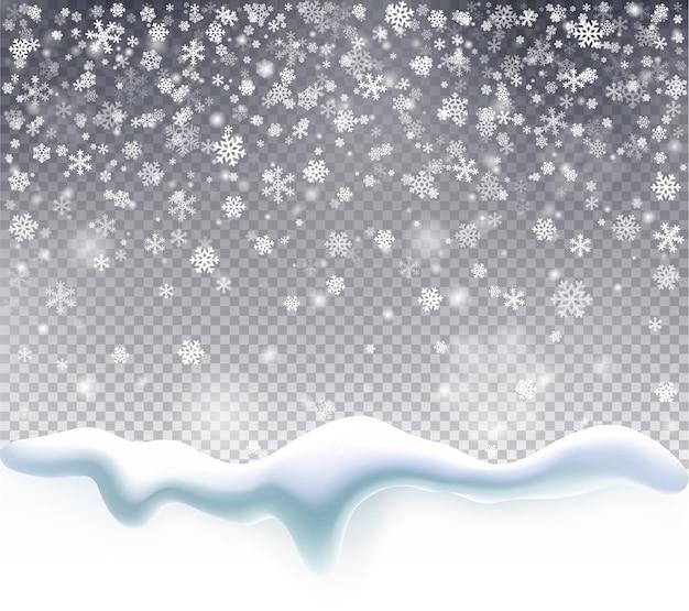 Magischer weihnachtsschneefall