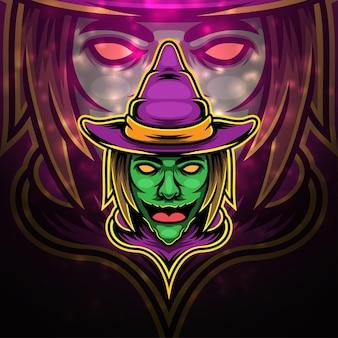 Magisches esport-maskottchen-logo-design