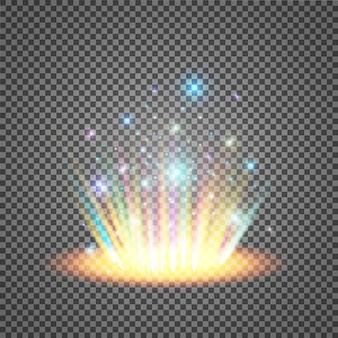 Magisches fantasy-portal. futuristischer teleport.