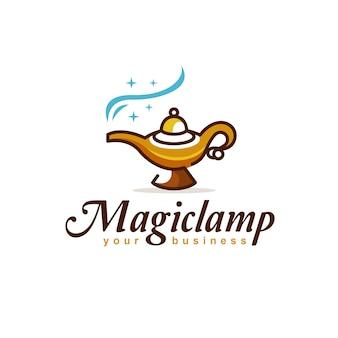 Magisches lampenlogodesign