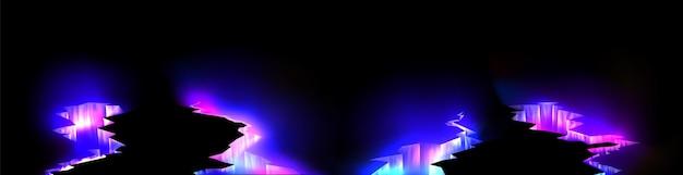 Magisches leuchten in bodenrissen glühende textur