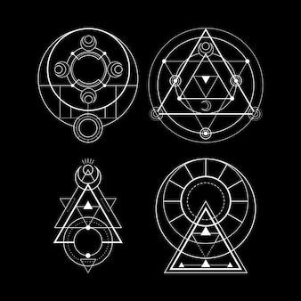Magisches mondsymbol