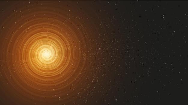 Magisches spiral-schwarzes loch auf galaxienhintergrund