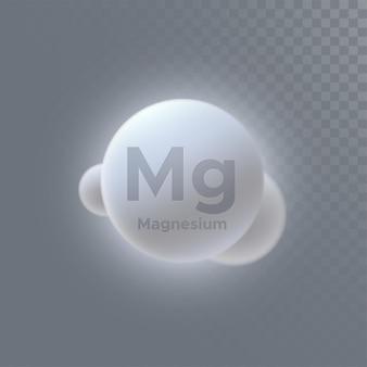 Magnesiummineralzeichen isoliert