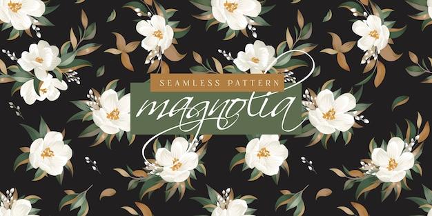 Magnolien-nahtloses muster