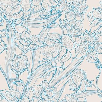 Magnolien und narzissen