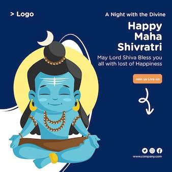 Maha shivratri festival-grußkarten-banner-design