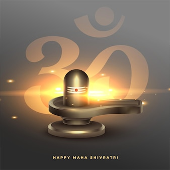 Maha shivratri segnet wünsche mit shivling idol