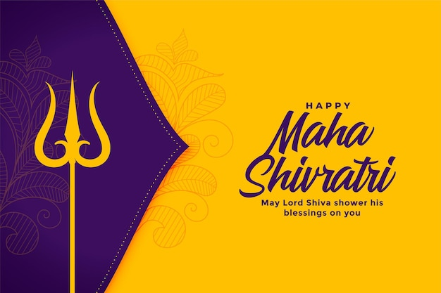 Maha shivratri traditionelles festival wünscht hintergrund