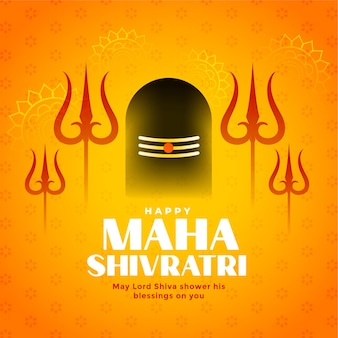 Maha shivratri traditionelles hinduistisches festival wünscht karte