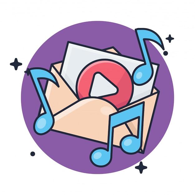 Mail mit musikknopf