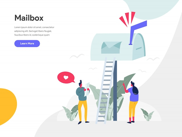 Mailbox illustration konzept