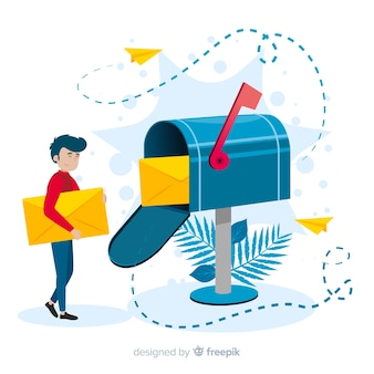 Mailbox konzept illustration