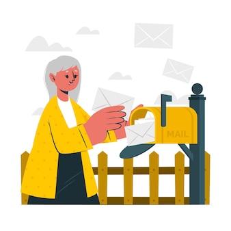 Mailbox-konzeptillustration