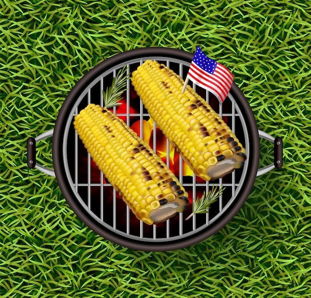 Mais auf dem grill