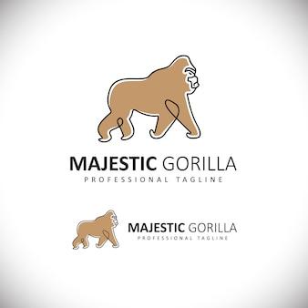 Majestätisches gorilla-logo