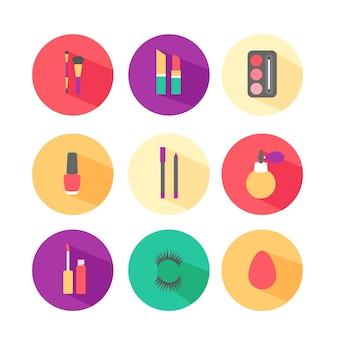 Make-up flache ikonen