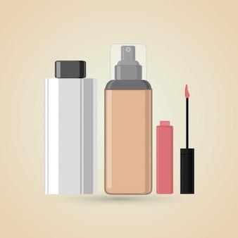 Make-up, hautpflege-konzept