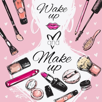 Make up kosmetik poster