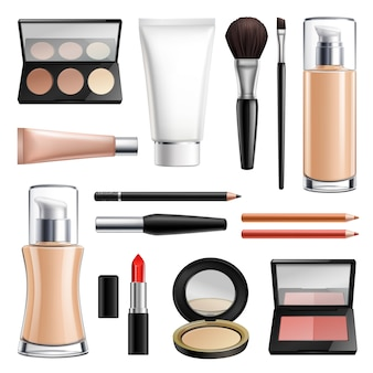 Make-up kosmetik realistische set