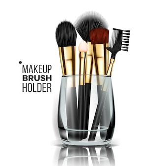 Make-up pinsel glashalter