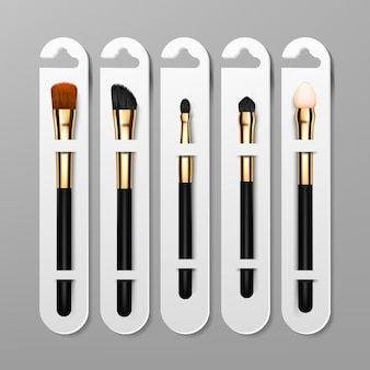Make-up pinsel verpackungsdesign